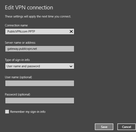 Windows 8.1, VPN, Network, Connection, Configure, PC Settings