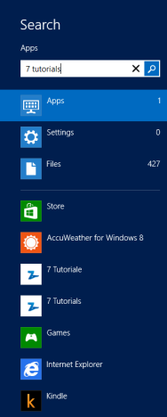 Search, Apps, Windows 8