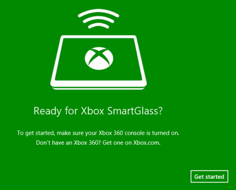 Windows 8, Xbox, SmartGlass, connect, console, PC