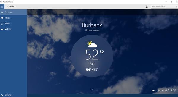 Weather, Windows