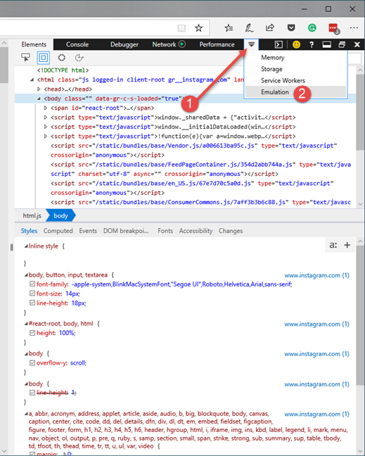 Microsoft Edge Developer Tools