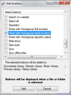 Windows Explorer, Windows 7, Explorer Toolbar Editor