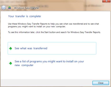 Windows Easy Transfer
