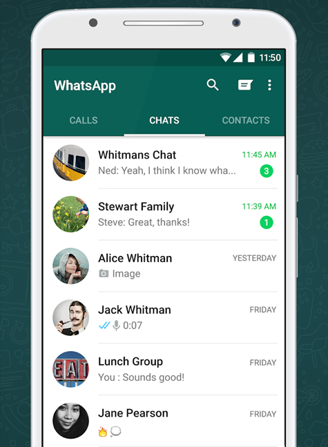 The official WhatsApp app for Android