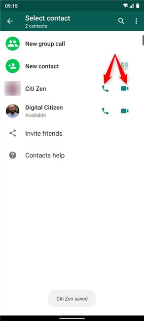 Your contact is saved, and you can get in touch