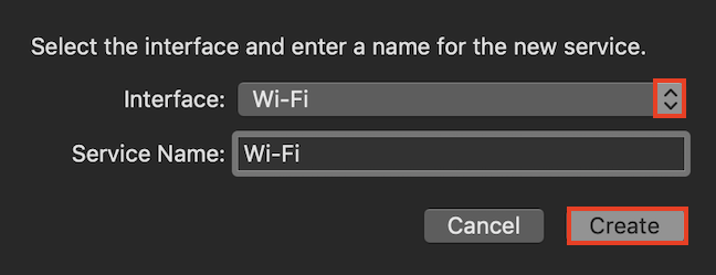 Add a Wi-Fi interface to the network list