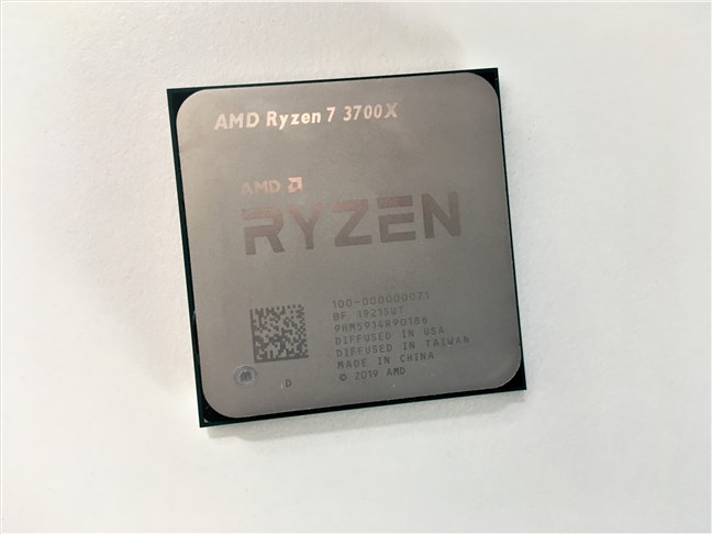 An AMD Ryzen 7 3700X processor