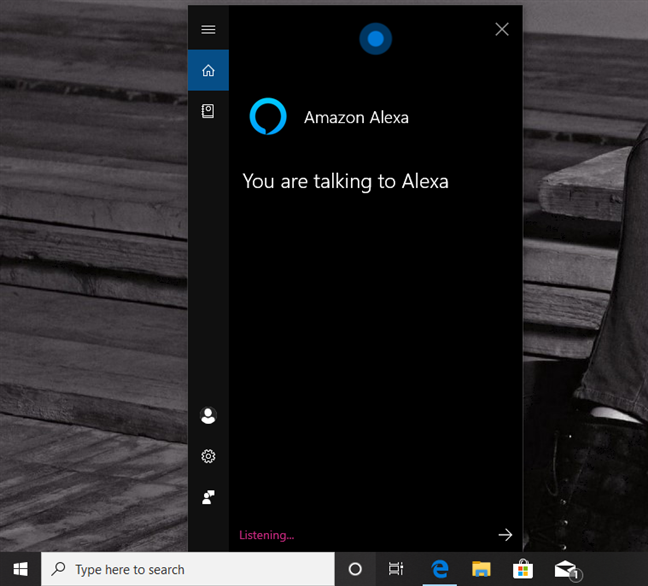 Talking to Alexa via Cortana, in Windows 10