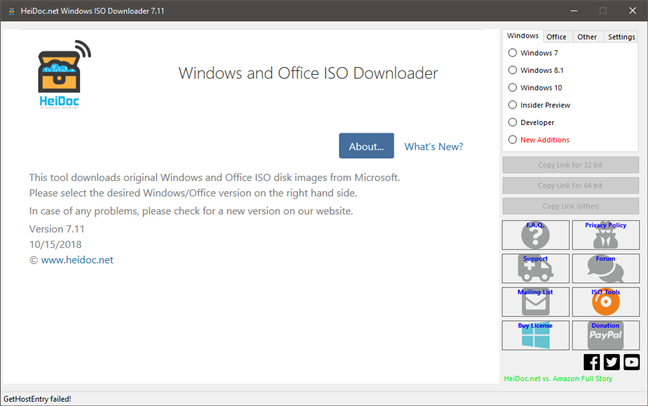 The Microsoft Windows and Office ISO Download Tool