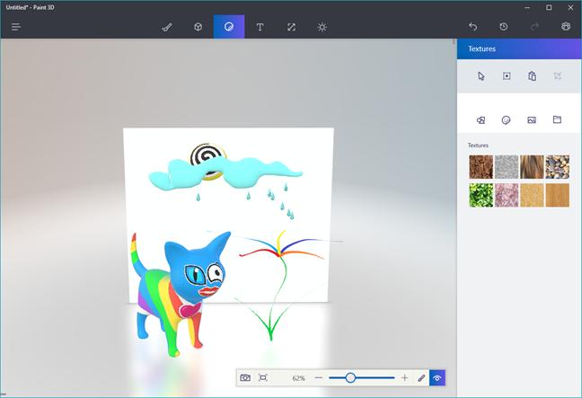 Paint 3D, Windows 10