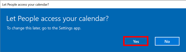 Allowing People to access the Calendar app