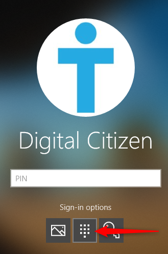 Haga clic en el símbolo del teclado PIN