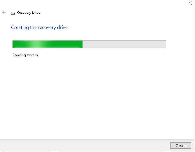 Windows 10 Recovery Drive