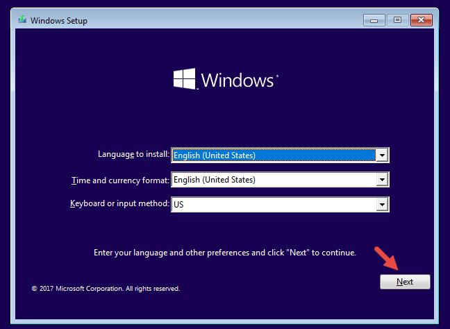 The Windows 10 Setup