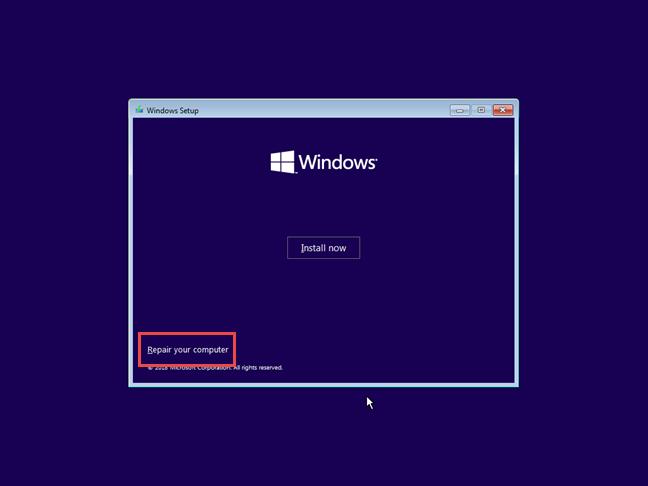 Repairing your Windows 10 computer