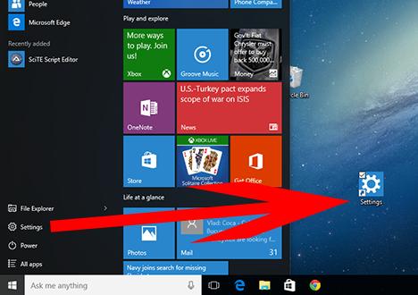 Windows 10, settings, Windows 8.1, shortcut, desktop, pc settings