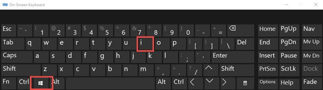The keyboard shortcut for Settings