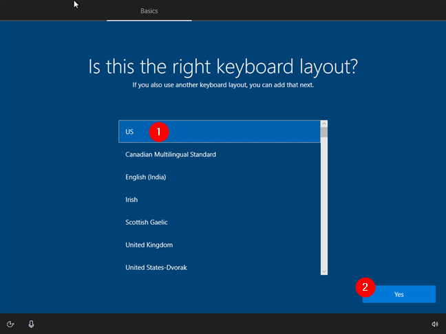 Choosing the keyboard layout that you prefer