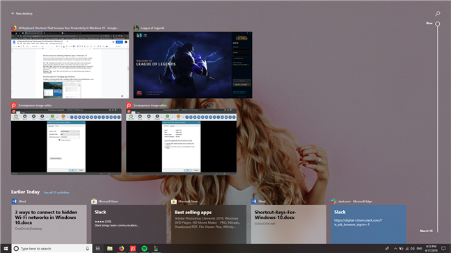 Task View from Windows 10