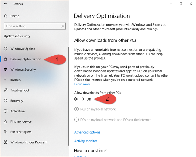 Windows Delivery Optimization