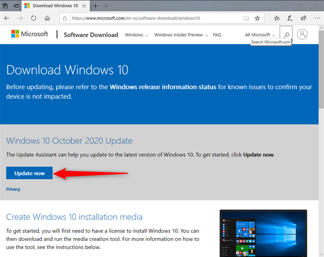 Download Windows 10 October 2020 Update now