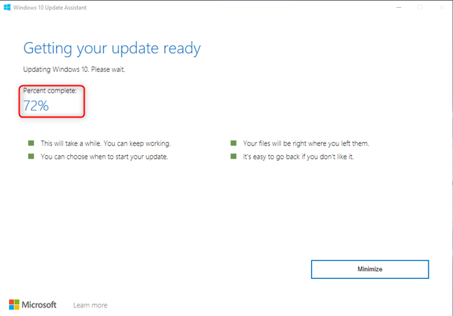 Windows 10 Update Assistant is updating Windows 10 to October 2020 Update
