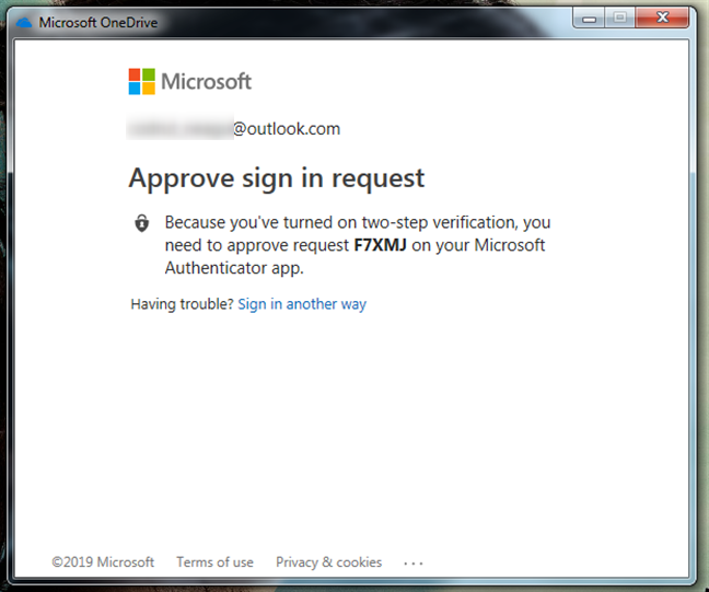 2-step verification for the Microsoft account