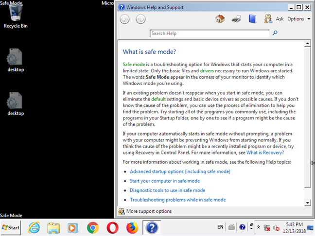 Windows 7 in Safe Mode