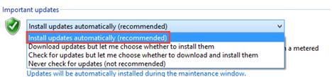 Windows Update, Settings, Configure, Change