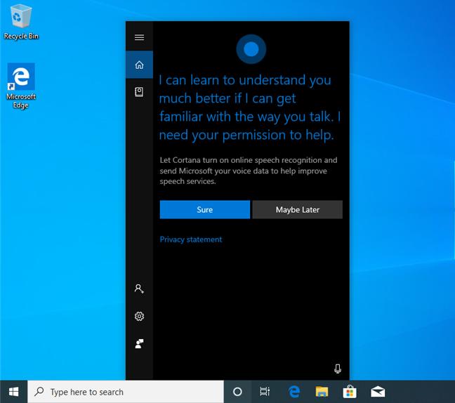 Cortana in Windows 10 May 2019 Update
