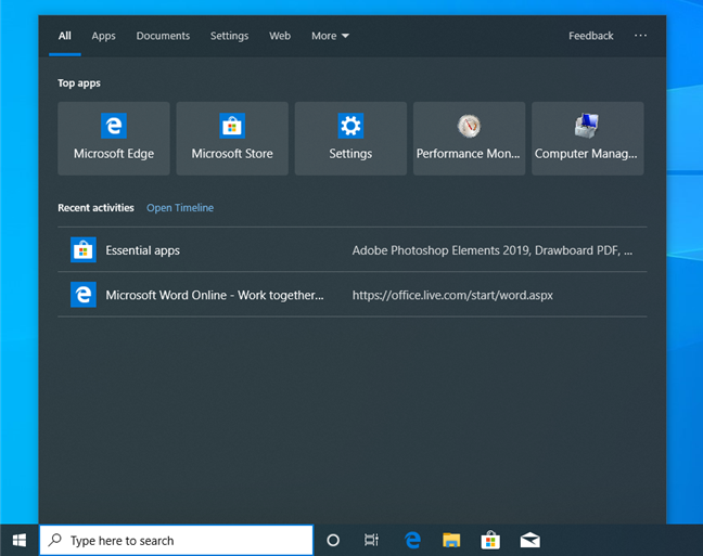 The Search in Windows 10 May 2019 Update
