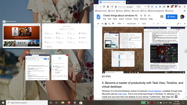 Best things about Windows 10: Snap app windows