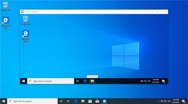 Windows Sandbox in Windows 10 May 2019 Update