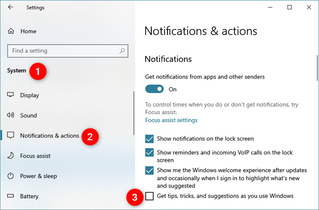 Get tips, tricks, and suggestions as you use Windows
