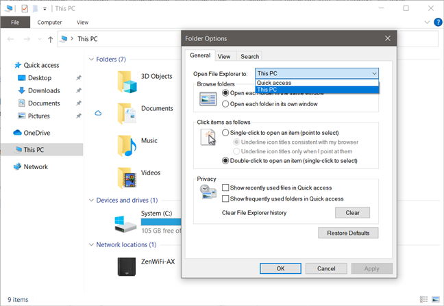 File Explorer can't be configured to start in any folder you want