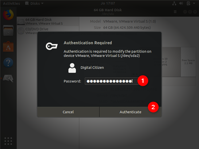 Authenticating as an administrator in Ubuntu Linux