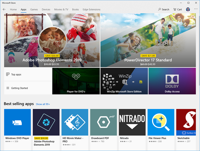 Apps in the Microsoft Store