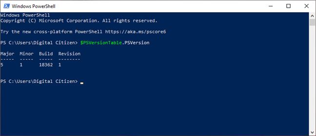 Checking the version of PowerShell