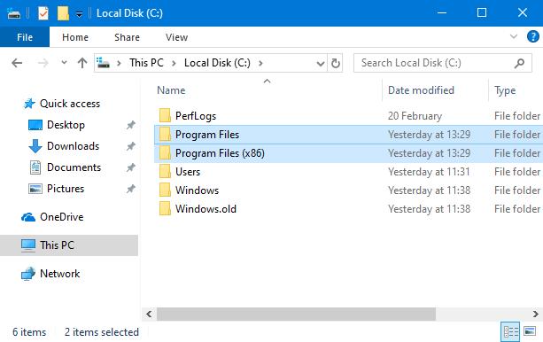Most apps in Windows are installed in the <em>Program Files</em> folders