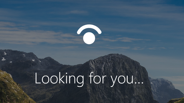 Windows Hello Face looking for you
