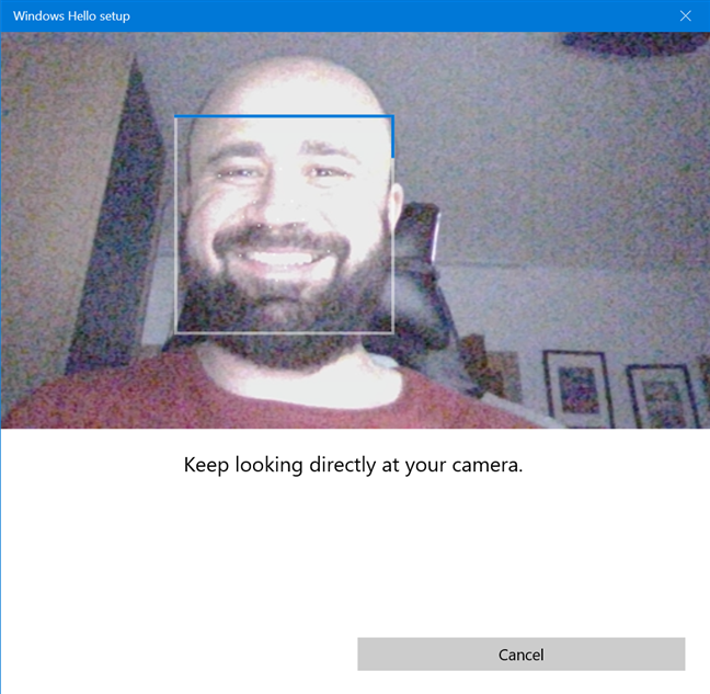 Windows Hello Face scans your face