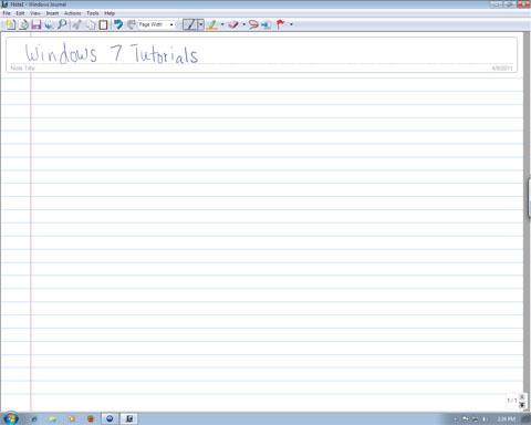 Windows Journal, how to use it, draw, take notes, Windows 7, Windows 8