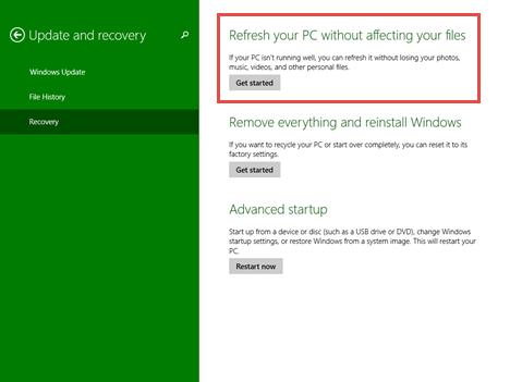 refresh, Windows 8.1, installation, reinstall