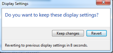 Confirming your display settings in Windows 7