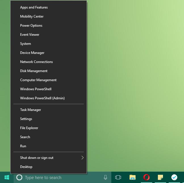 Windows, WinX, menu, edit