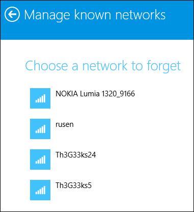 Windows 8.1 Update, forget, wireless, network, profile