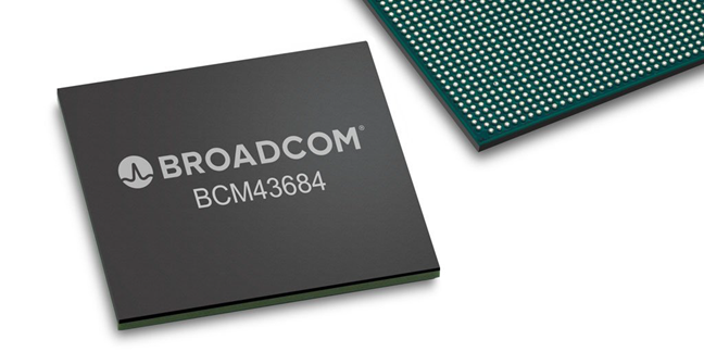 The Broadcom BCM43684 processor for Wi-Fi 6 routers