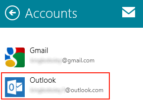Windows 8 - Rename Mail Accounts