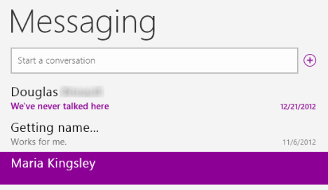 Windows 8 - How to Use the Messaging App