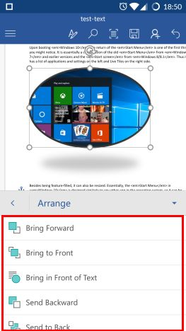 Microsoft Word, Android, edit, add, pictures, shapes